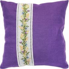 PB123 Полевые цветы. Luca-S. Набор для вышивания нитками. Подушка