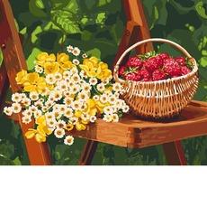 картина раскраска летние дары идейка Kh5560 40 х 50см