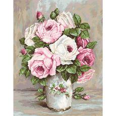 B574 Смешанные розы Набор для вышивания крестиком