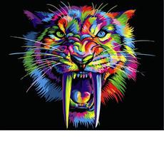 Радужный саблезубый тигр VP990