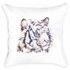 PB144 Белый тигр. Luca-S. Набор для вышивания нитками. Подушка