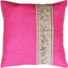 PB106 Розовая лента. Luca-S. Набор для вышивания нитками. Подушка