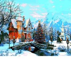 VP1201 Картина раскраска Морозное утро DIY Babylon