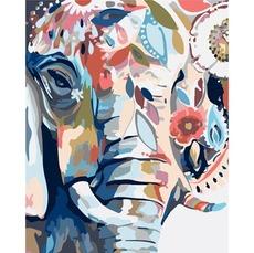 KH2470 Картина раскраска Восточные краски Идейка 40х50см