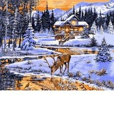VP1203 Живопись по номерам Зимний вечер у реки DIY Babylon