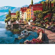 KH3503 Картина раскраска Утро на берегу озера Идейка 40х50см