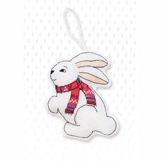 Набор для вышивки новогодней игрушки JK010