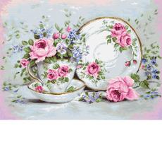BA2318 Трио и цветы Набор для вышивания крестиком