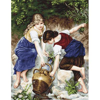 B564 У фонтана Набор для вышивания крестиком