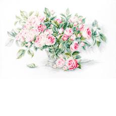 BL22866 Букет чайных роз. Luca-S. Набор для вышивания нитками