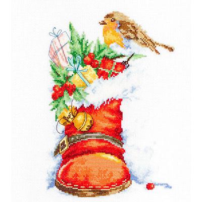 B2310 Pождественский сапожок, Набор для вышивания крестиком