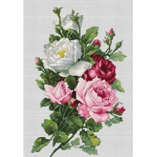 BA22855 Букет из роз. Luca-S. Набор для вышивания нитками