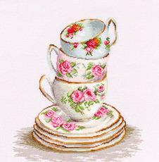 B2323 Три чайные чашки Набор для вышивания крестиком