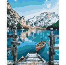 GX29450 Картина раскраска Альпийское озеро RainbowArt
