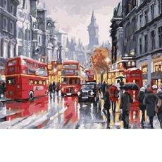 GX21871 Рисование по номерам Лондон Автобусы ночного города Brushme