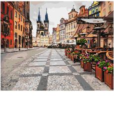 GX23739 Картина раскраска Пражские улицы Brushme