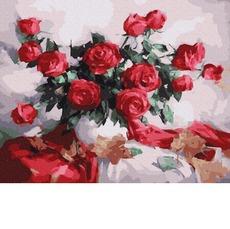 GX25144 Картина по Номерам Букет алых роз RainbowArt