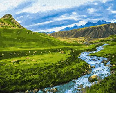 GX30094 Картина по номерам Альпийский луг Brushme