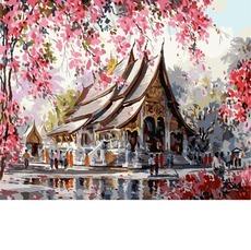 GX3259 Картина раскраска Весенний Тайланд RainbowArt