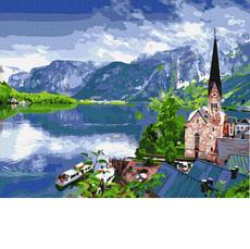 GX33056 Картина по номерам Вид на горное озеро Brushme