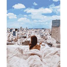 GX34136 Картина по номерам Утро в большом городе Brushme