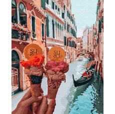 GX34170 Картина по номерам Джелато в Венеции Brushme