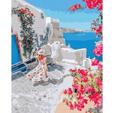 GX34836 Картина по номерам Цветущая Греция Brushme