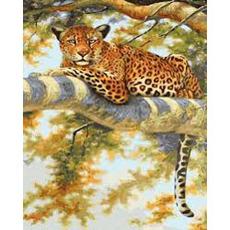 GX36051 Картина по Номерам Леопард на отдыхе RainbowArt