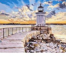GX36123 Картина по Номерам Маяк в солнечном свете RainbowArt