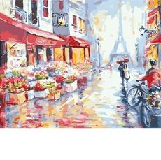 BK-GX7959 Картина раскраска Весенний дождь в Париже Brushme