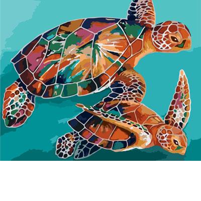 Радужные черепахи KH2455
