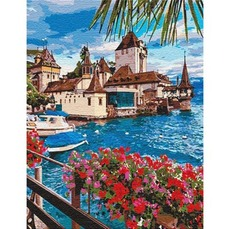 KHO12253 Картина по номерам Волшебная Швейцария
