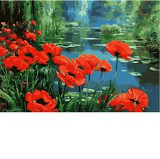 KHO2056 Картина по номерам Маки у пруда