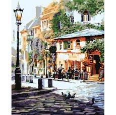KHO2150 Картина раскраска Италия Летнее кафе