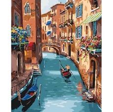 KHO2153 Раскраска по цифрам Солнечная Венеция