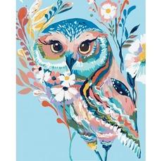 KHO2471 Картина по номерам Очаровательная сова