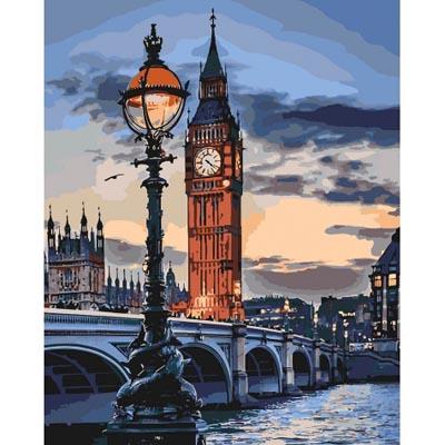 KHO3555 Картина раскраска Сумерки над Лондоном Идейка
