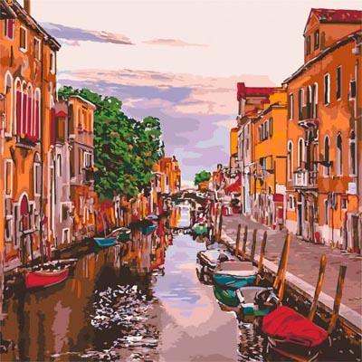 Картина по номерам Венецианский вечер (КНО3571)