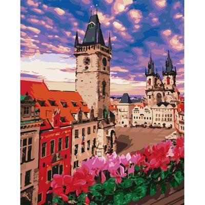 KHO3574 Картина по номерам Терраса в Праге Идейка