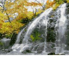 Водопад и золотые листьяMR-Q1859