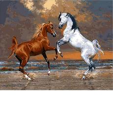 Лошади на берегу океанаMR-Q2083