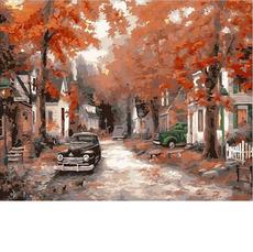 Осень на кленовой улицеMR-Q2085