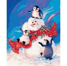 Пингвинчики и снеговик MR-Q2141