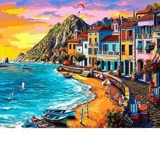 MR-Q2232 Картина по номерам Набережная на закате Mariposa