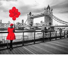 MR-Q2239 Картина по номерам Девушка в красном Mariposa
