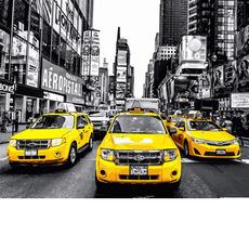 MR-Q2241 Картина по номерам Желтое такси Mariposa