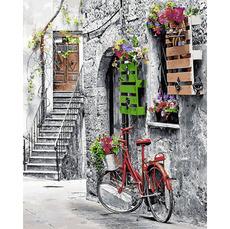 MR-Q2242 Картина по номерам Цветочная улочка Mariposa