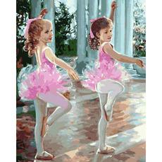 MR-Q2244 Картина по номерам Маленькие балерины Mariposa
