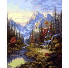 MR-Q2249 Картина по номерам Изба в лесу Mariposa