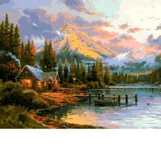 MR-Q2250 Картина по номерам Окончание прекрасного дня Mariposa